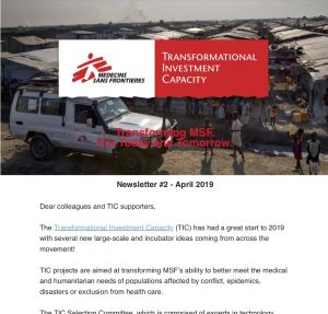 What's New from the Transformational Investment Capacity_ _ Newsletter - April 2019
