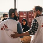 MSF staff in Idomeni